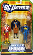 DC Universe JLU 3 PACK EXCLUSIVE FIGURES MIP ADAM STRANGE ANIMAL MAN STAR MAN