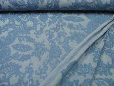 Bestickter Viskosestoff • Ranken • jeans • 0,5m