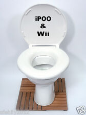 Autocollant WC autocollant Humerous (ipoo et wii) design APPPLE style decal stickers