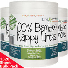1320 Flushable Bamboo Nappy/Diaper Liners/Inserts,cloth/disposable baby wipes