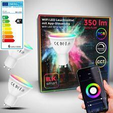 LED Smart Home Leuchtmittel WiFi RGB Lampe dimmbar CCT Birne GU10 Alexa Google