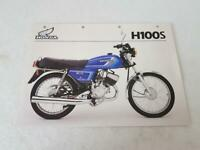 HONDA H100S Motorcycle Sales Specification Leaflet JUNE 1983