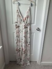 Nordstrom Lush Brand Women's Floral V-Neck Jumpsuit Size Small NEW