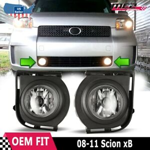 For Scion xB 08-10 Factory Bumper Replacement Fit Fog Lights DOT Clear Lens