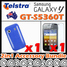 Samsung Galaxy Y S5360T Telstra Candy Color Soft Jelly Rubber Gel Case Cover