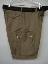 "NWOT  Men's Famous Maker Belted Cargo Shorts Size 40""x 10"" Tan #20M"
