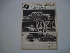 advertising Pubblicità 1965 INNOCENTI AUSTIN J4 J 4 HYDROLASTIC