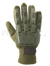 Valken V-Tac Olive Tactical Full Finger Paintball Gloves Large Lg L New