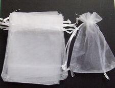 10pz sacchetti in organza colore BIANCO 12x10cm