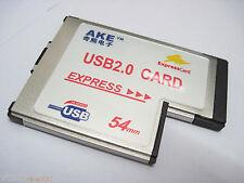 Laptop 54 54mm express convert to 2 usb 2.0 port card adapter