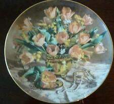 vintage Bradex tulips 1989 collector's plate