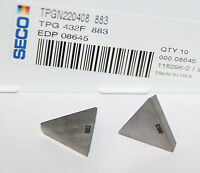 TPG 432 F 883 SECO *** 10 INSERTS *** FACTORY PACK ***
