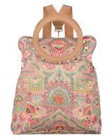 Oilily Folding City Backpack Tasche Rucksack Handtasche Beige Neu