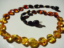 Natural Baltic Amber  CHILDREN NECKLACES - Oval Beads - Choose your color!!!