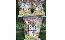 Crafty Catcher Big Hit Boilies Carp Fishing Bait 15mm Shelf Life 1kg Bag Coconut & Maple Cream