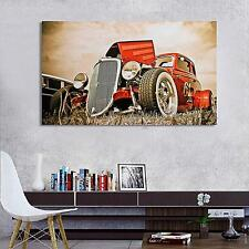 """Hot Rod Vintage Cars Silk Cloth Poster Art Paint Home Wall Decoration 40"""" x 24"""""""
