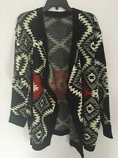 New Luxe Plus Size Open Front Cardigan Navy Red Sweater Sz 2x/3x