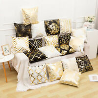 Bronzing Cushion Cover Gold Foil Printed Geometric Throw Pillow case Decorative