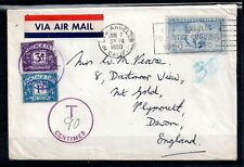 More details for usa 1950 airmail cover to uk with postage dues ws14782