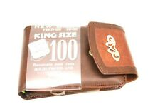 RGA Women's King Size WALLET Brown w/ Gold Accents VTG 70s 100 Windows NWT