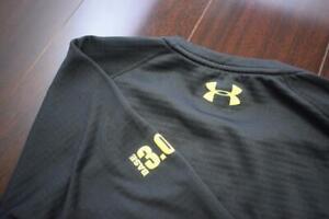 Under Armour Gym Shirt ColdGear Fitted Base 3.0 Black Fleece Mens Size XL