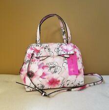 Betsey Johnson Pink Quilted Flower Bow Crossbody Satchel Handbag NEW
