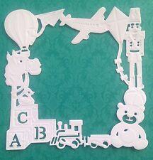Baby Frame Die Cuts - White - Pack Of 5