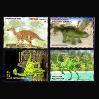Spain 2016 - Dinosaurs Fauna 3D Stamps - MNH