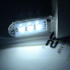 1x Car Interior MINI USB Port LED Lighting Lamp Reading Bulb Night Light White