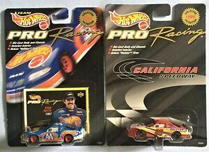(2 pc) 1997 & 1998 Die Cast Hot Wheels Mattel Nascar Pro Racing # 44 & 98