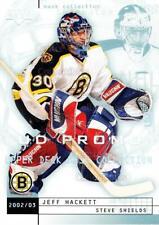 2002-03 UD Mask Collection UD Promo #8 Jeff Hackett, Steve Shields