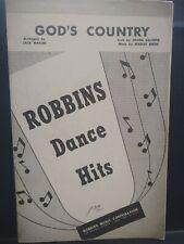 New ListingGod's Country Jazz Big Band Chart Arrangement Orchestration Sheet Music Vg