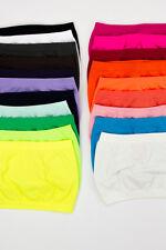 Women Stretch Strapless and Seamless Tube Top Plain Bandeau Bra Undershirt
