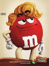2013 magazine ad M&M's CHOCOLATE PEANUT BUTTER mms M&M candy advertisement print