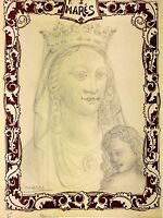PROJET DE EX-LIBRIS. DESSIN GRAPHITE. SIGNE FREDERIC MARÉS. ESPAGNE. CIRCA 1920