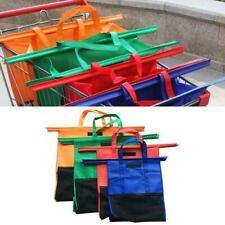 4PCS/Set Shopping Cart Trolley Bags Foldable Reusable Supermarket Bag Shopp Y6Y6