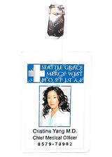 Greys Anatomy Cristina Yang ID Badge Hospital Cosplay Prop Costume Comic Con