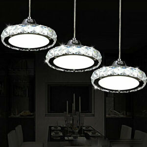 Modern 12/36W LED Pendant Lamp Crystal Chandelier Bedroom Restaurant lights Deor