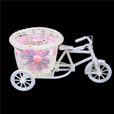 Romantic Tricycle Designed Rattan Flower Basket Vase Props Wedding Home Decor RC