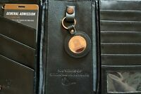 Harley Davidson wallet black leather tri fold 105th anniversary bonus key chain