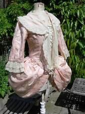 19thC antico francese SETA Panier STECCATO Abito Top in Pizzo fichu Maria Antonietta