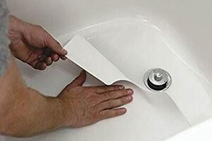 "16"" x 40"" Adhesive Bath Mat Tub Shower Anti Slip Tape Non Skid Vinyl Safety Mats"