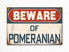 Beware of Pomeranian Dog Breed Cute Fridge Magnet