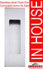 Square Edge Stainless steel door Flush pull,handles-Satin 120x40mm