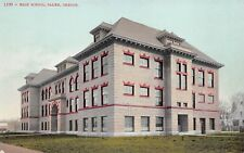 Salem Oregon c1910 Postcard High School