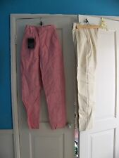 leather pants. pink size small, white size large new, $50 each