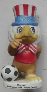 Los Angeles Olympics 1984, Sam the Eagle Ceramic Soccer Figurine, by Papel