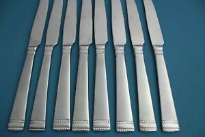 """8 Dinner Knives Solid Cuisinart SATIN VALENCE Stainless Frosted China 9 1/4"""""""