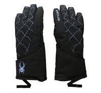 Spyder Overweb Glove - Boys, Ski Snowboarding Gloves, Size S, Black/French Blue