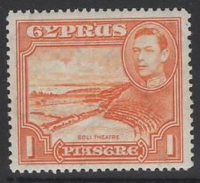 CYPRUS SG154a 1944 1pi ORANGE p13½x12½ MTD MINT